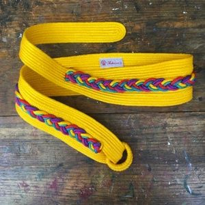 Vintage 80s Brightly Colored Rebecca's Fabric Belt
